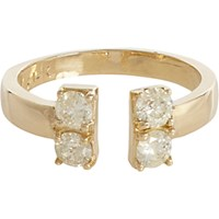 Loren Stewart Women's Diamond And Gold Open Band Ring No Color