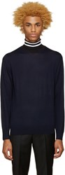 Paul Smith Navy Contrast Turtleneck
