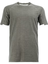 Individual Sentiments Short Panel Sleeve T Shirt Grey