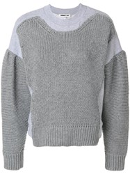 Mcq By Alexander Mcqueen Chunky Knit Jumper Cotton Cashmere Wool M Grey
