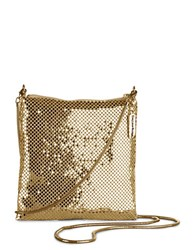 Whiting And Davis Crossbody Dance Bag Gold