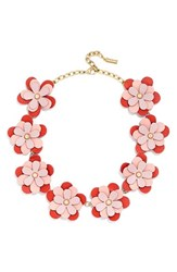 Women's Baublebar 'Mod' Leather Flower Collar Necklace