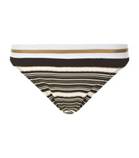 Gottex Metallic Stripe Halter Neck Bikini Bottom Female Multi