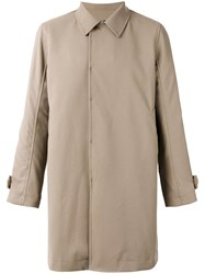 Undercover Classic Collared Coat Men Cotton Polyester 2 Nude Neutrals