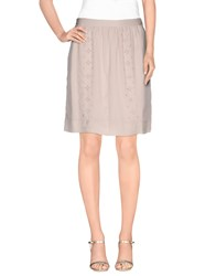 Noa Noa Skirts Knee Length Skirts Women Beige