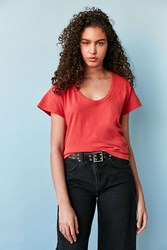 Bdg Cancel Out Scoopneck Tee Red