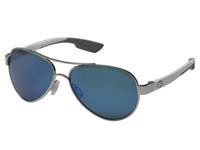 Costa Loreto 580 Mirror Glass Palladium White Temples Blue Mirror 580 Glass Lens Fashion Sunglasses Gray
