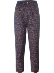 Jean Paul Gaultier Vintage Calico Print Trousers Blue