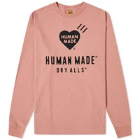 Human Made Long Sleeve Heart Logo Tee Pink