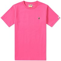 A Bathing Ape Head One Point Tee Pink