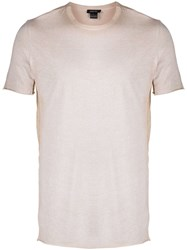 Avant Toi Raw Edge T Shirt Neutrals