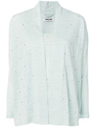 Max And Moi Beaded Cardigan Green