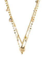 Ettika Layered Shell Belly Chain Metallic Gold