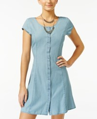 American Rag Chambray Button Front Fit And Flare Dress Only At Macy's Denim