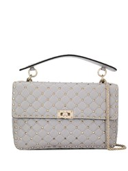 Valentino Garavani Rockstud Spike Shoulder Bag Grey