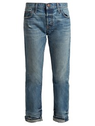 Current Elliott The Selvedge Tapered Leg Jeans Mid Blue