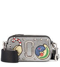 Marc Jacobs Night And Day Snapshot Small Leather Shoulder Bag Silver