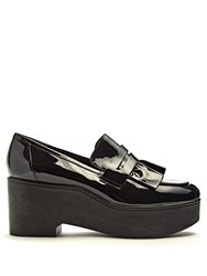 Robert Clergerie Xock Patent Leather Platform Loafers Black