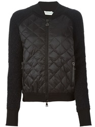 Moncler Quilted Panel Jacket Black
