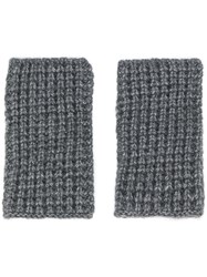 Barena Knitted Non Finger Gloves Grey
