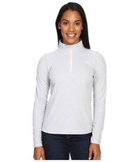 The North Face Glacier 1 4 Zip Fleece Top Tnf Light Grey Heather Purdy Pink Women's Fleece Gray
