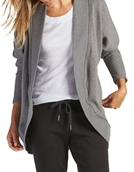 Ugg Fremont Double Knit Fleece Wrap Cardigan Grey
