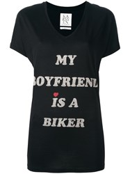 Zoe Karssen Slogan T Shirt Black