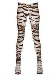 Roberto Cavalli Animalier Printed Stretch Lycra Leggings