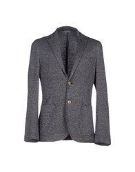 Seventy By Sergio Tegon Suits And Jackets Blazers Men Dark Blue