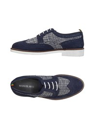 Manuel Ritz Lace Up Shoes Dark Blue