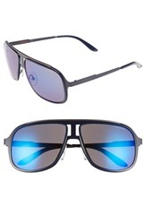 Men's Carrera Eyewear 59Mm Aviator Sunglasses Blue Ruthenium Sky Mirror