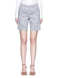 Theory 'Figamore' Plaid Linen Blend Shorts Multi Colour