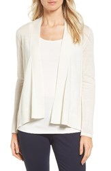 Nordstrom Women's Collection Cashmere And Linen Cardigan Ivory Soft
