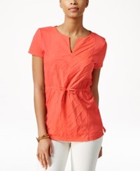 Tommy Hilfiger Waverly Drawstring Waist Tunic New Coral