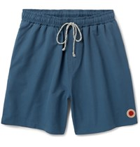Mollusk Mousk Vacation Mid Ength Cotton Bend Swim Shorts Bue Blue