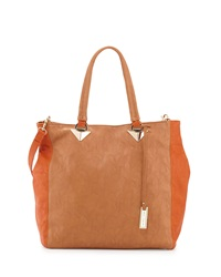 Urban Originals Naive Colorblock Tote Tan Orange