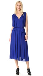 Barbara Bui V Neck Dress Royal Blue