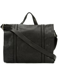 Guidi School Messenger Bag Unisex Horse Leather One Size Black