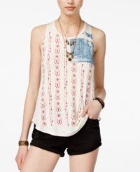 American Rag Juniors' Stars And Stripes Graphic Tank Top Only At Macy's Oatmeal Combo