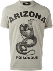 Dsquared2 Arizona Poisonous Snake T Shirt Nude Neutrals