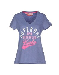 Superdry Topwear T Shirts Women Lilac