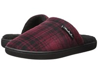 Woolrich Chatham Camp Red Hunting Plaid Fleece Men's Slippers