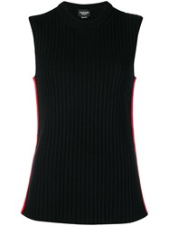 Calvin Klein 205W39nyc Ribbed Knit Top Black