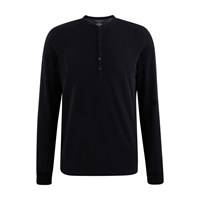 Majestic Tunisian Style Cotton And Cashmere Top Noir Anthracite Chine