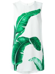 Dolce And Gabbana Tropical Print Dress White