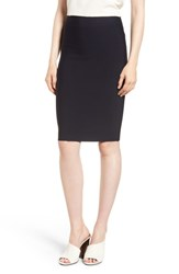 Bailey 44 Poly Sci Pencil Skirt Midnight