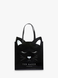 Ted Baker Meowcon Cat Large Icon Shopper Bag Black