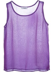 Yves Saint Laurent Vintage Sheer Tank Top Pink And Purple