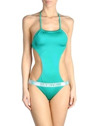 Just Cavalli Beachwear One Piece Suits Green