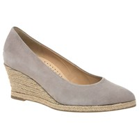 Gabor Paisley Wedge Heeled Court Shoes Beige
